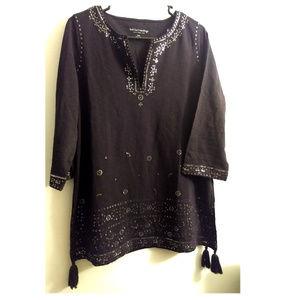 Soft Surroundings Sequin Tassel Tunic S/M